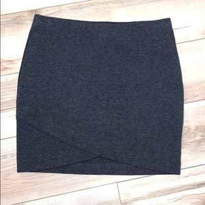 H&M Charcoal Gray Mini Skirt Medium
